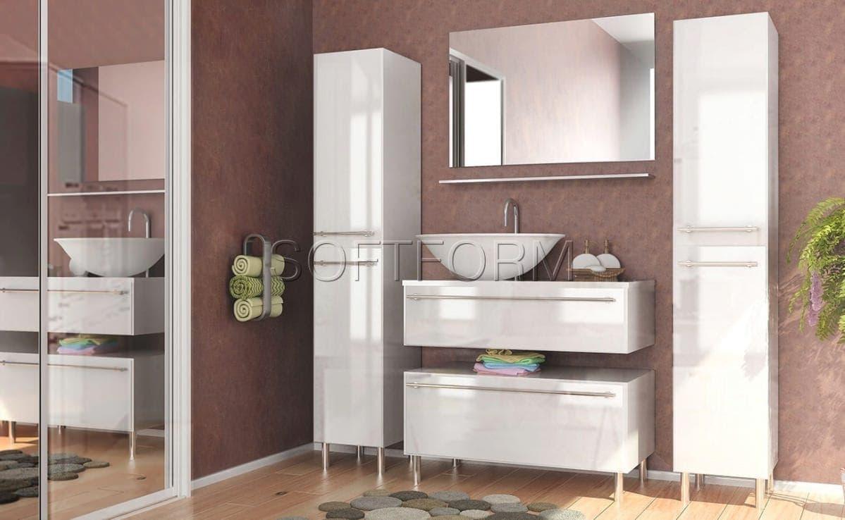 Глянцевые фасады для ванных комнат