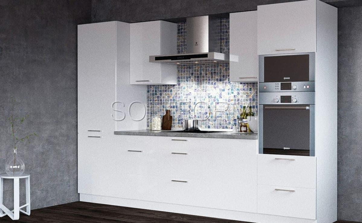 Глянцевые фасады для кухни